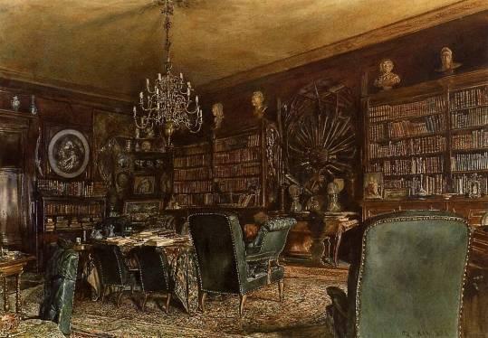 Image The-Library-Of-The-Palais-Lanckoronski-Rudolf-Von-Alt